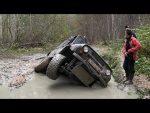 Слегка утопили TLC80, УАЗ на боку, пытаемся доехать до нового маршрута)